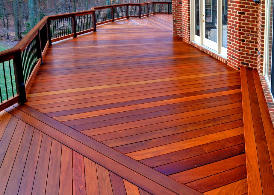 Wood and synthetic decks in northern virginia maryland for Hardwood decking supply